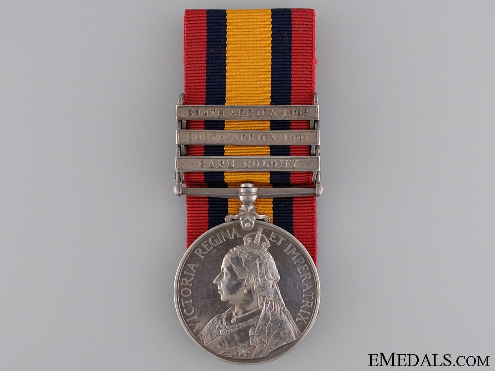 A Queen's South Africa Medal to the Cape Colony Cycling Corps
