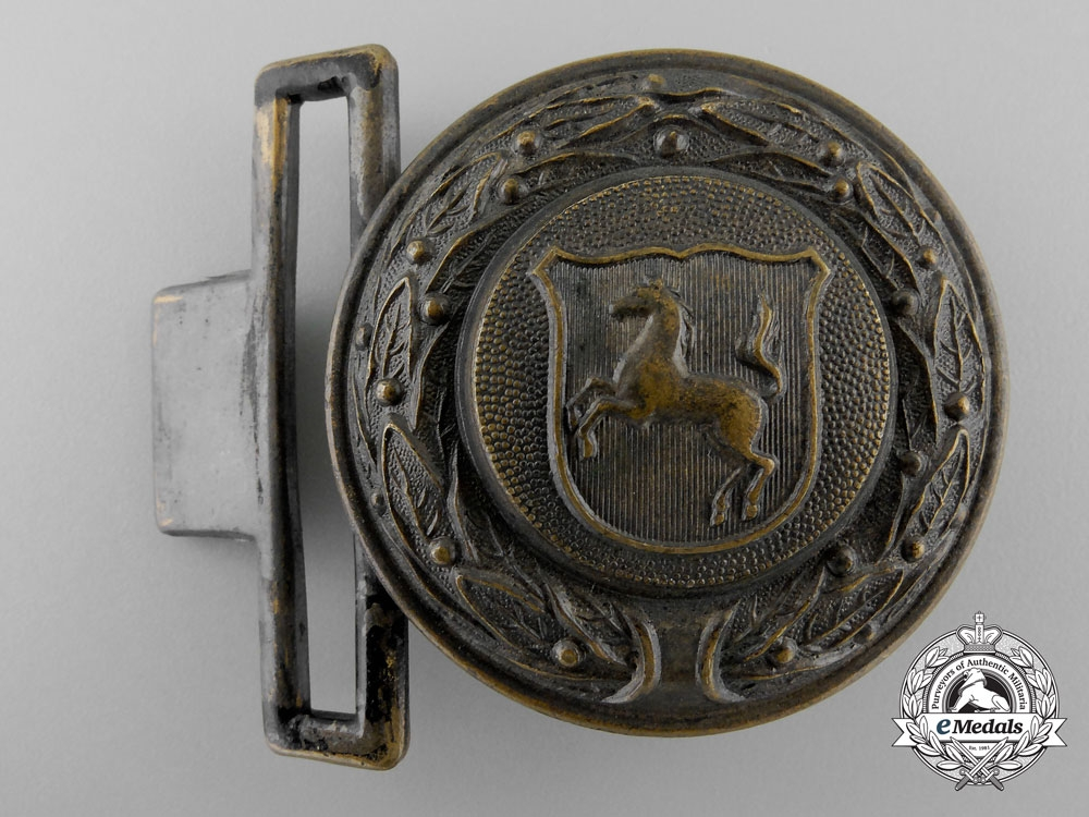 A Third Reich Westfalen Fire Defence Service Officer's Belt Buckle