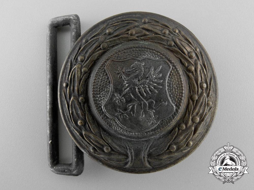 A Third Reich Pommern (Pommeranien) Fire Defence Service Officer's Belt Buckle