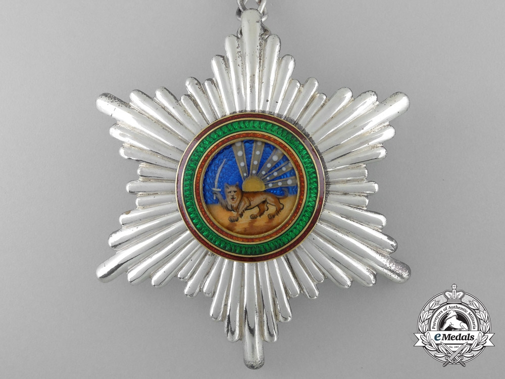 An Iranian Order of Homayoun; 2nd Class Set