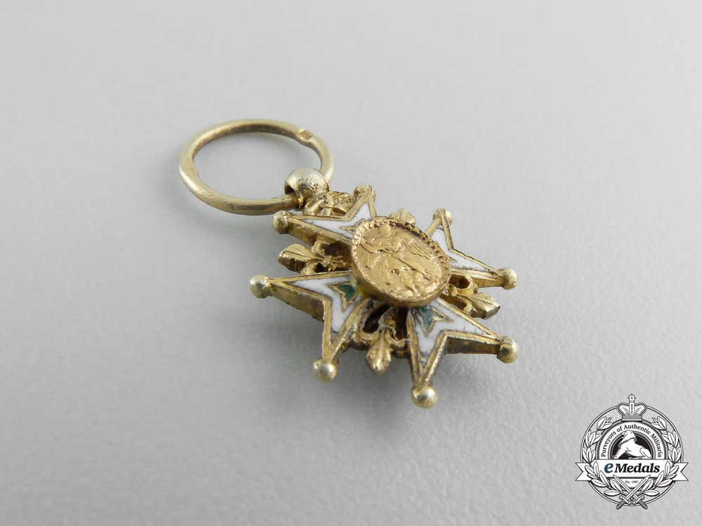 France, First Empire. A Miniature Order of St. Michael in Gold, c.1820