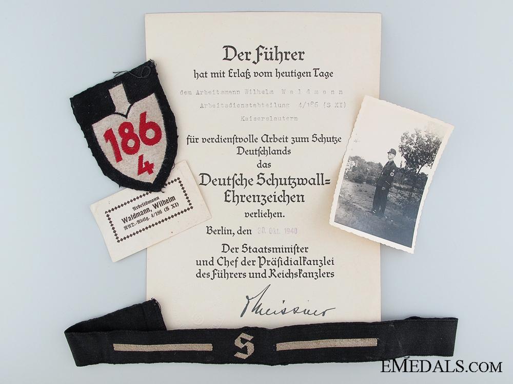 RAD Group to Arbeitsmann Wilhelm Waldmann