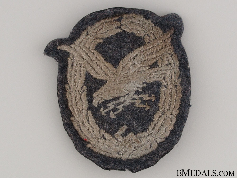 Radio Operator & Air Gunner Cloth Badge