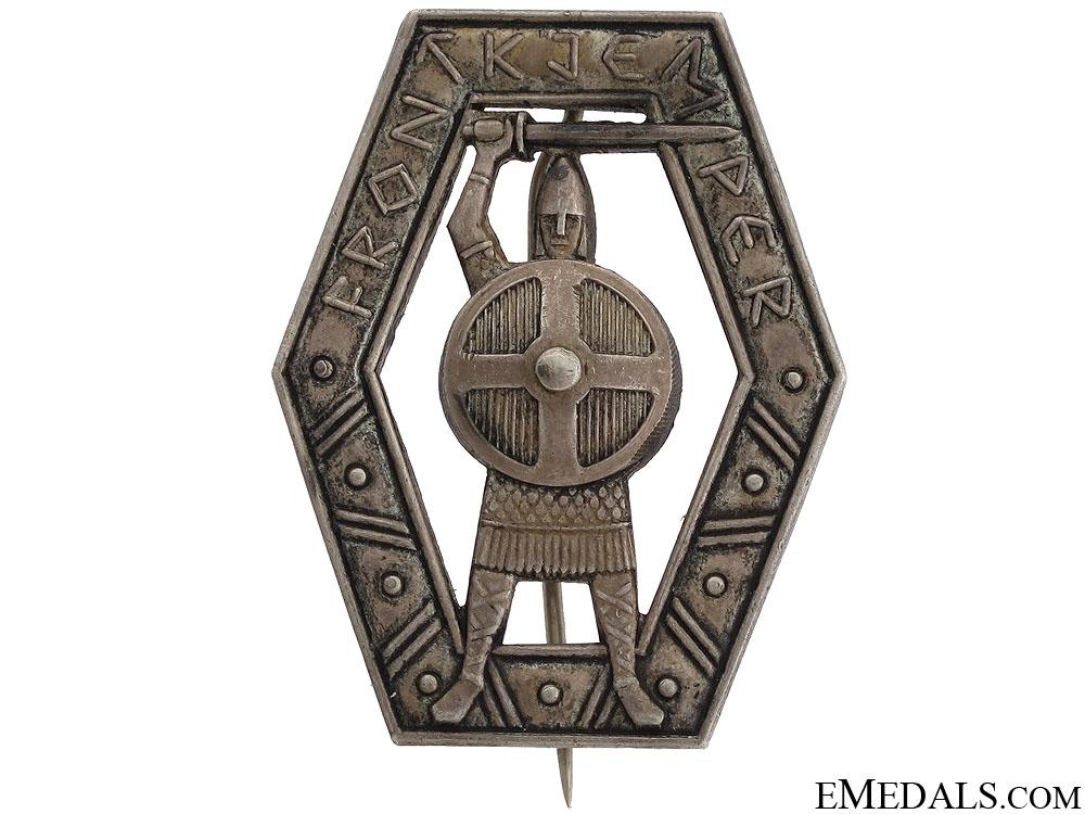 Rare Norwegian Frontkjemper Award in Silver