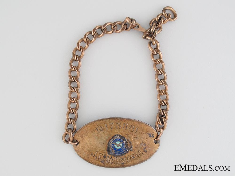 RCAF Identification Bracelet