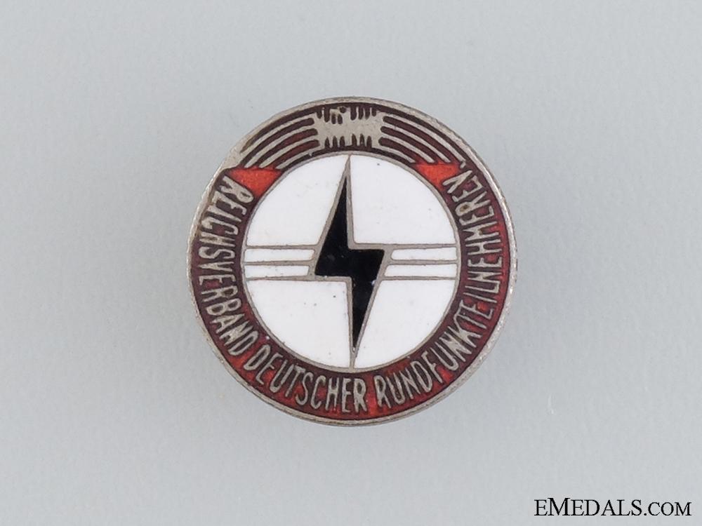 Reich Association of German Radio Listeners (RDR) Membership Badge