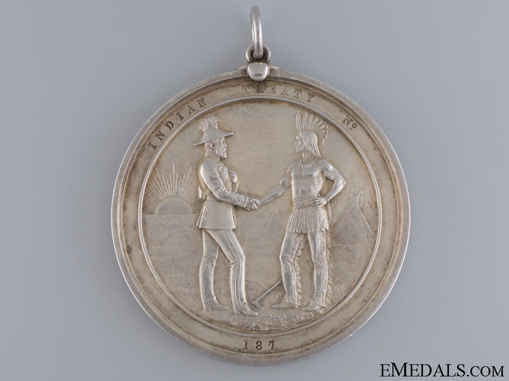 A Rare Large 1870's Canadian Indian Peace Medal
