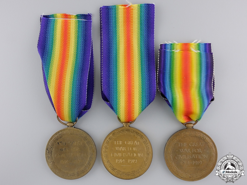 Three First War Canadian Victory Medals