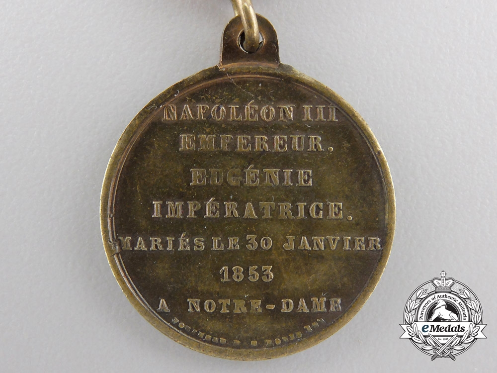An 1853 Marriage of Emperor Napoleon III & Empress Eugenie Medal