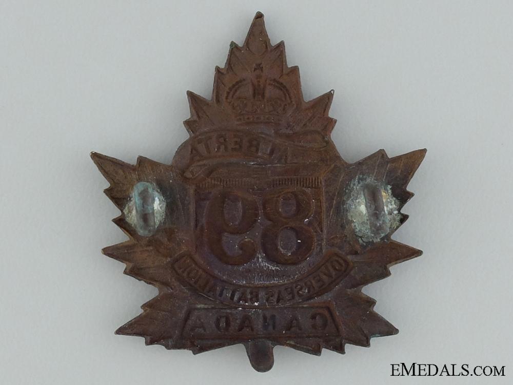 89th Battalion (Calgary, Alberta) Cap Badge CEF