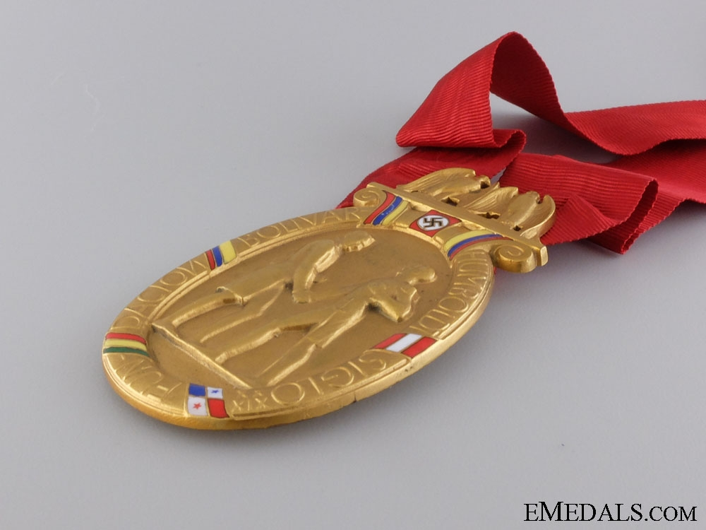 A Rare Humbolt & Bolivar Foundation Honor Badge to Willibald Fritsch