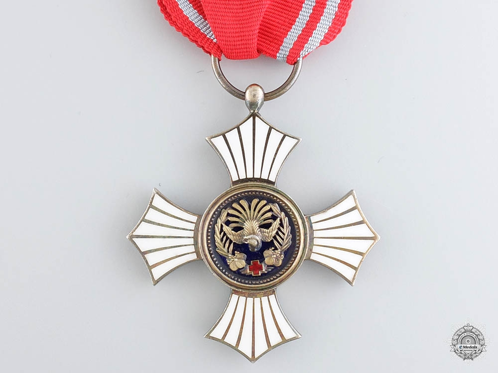 A Japanese Red Cross Merit Award; Silver Grade