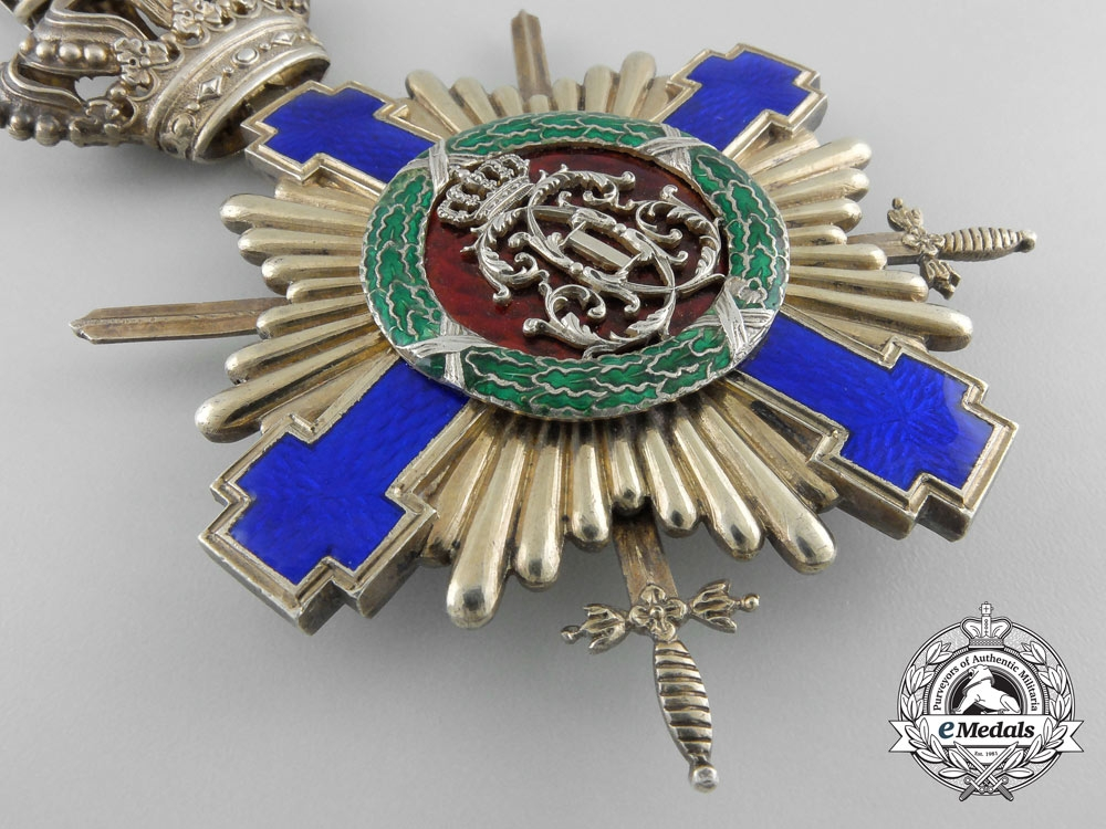 An Order of the Romanian Star with Swords; Grand Cross Badge 1877-1932