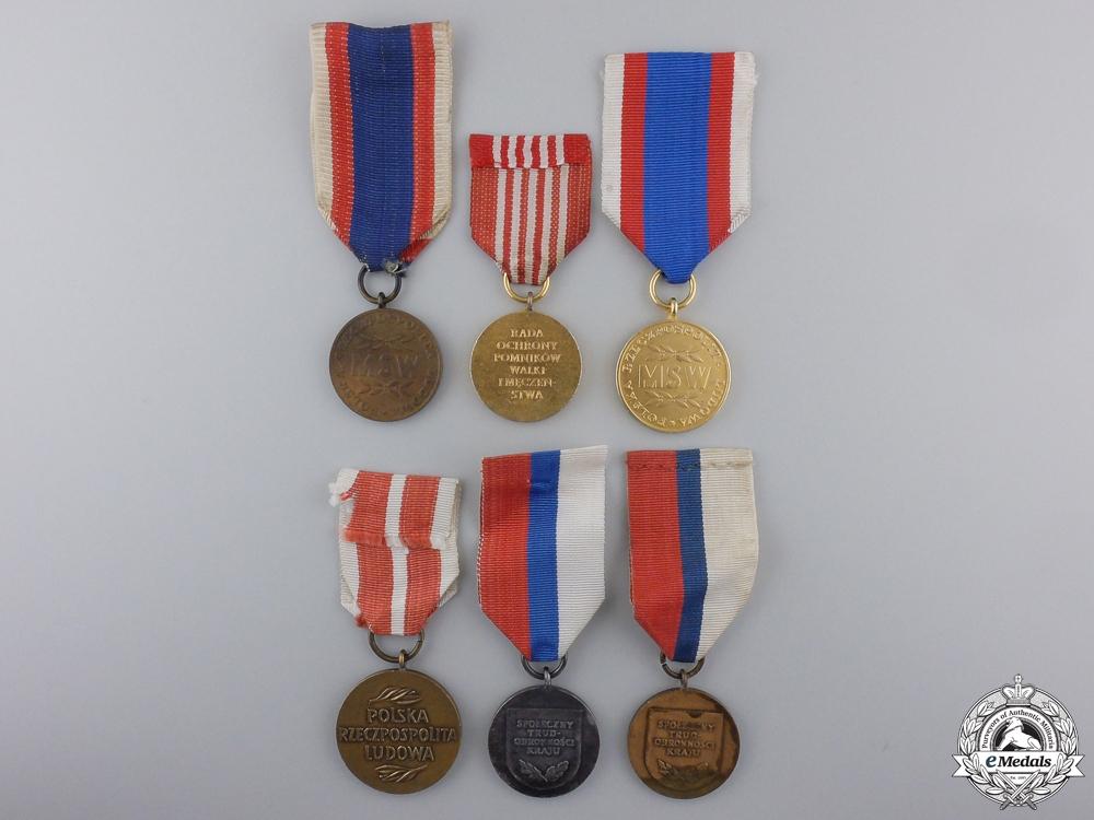 Six Polish Medals & Awards