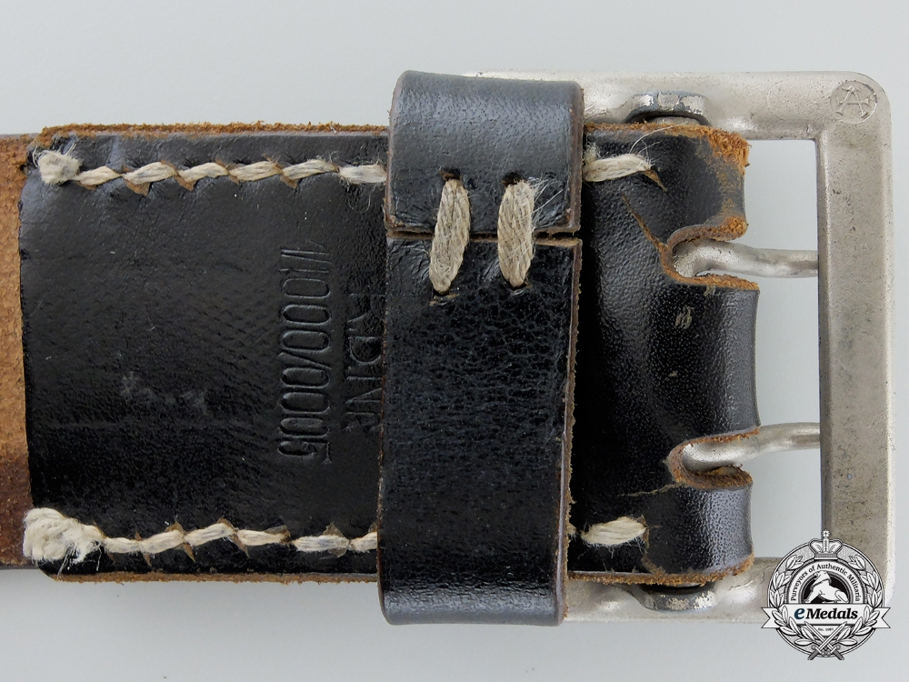 A German Open Claw Buckle and Belt by Assmann