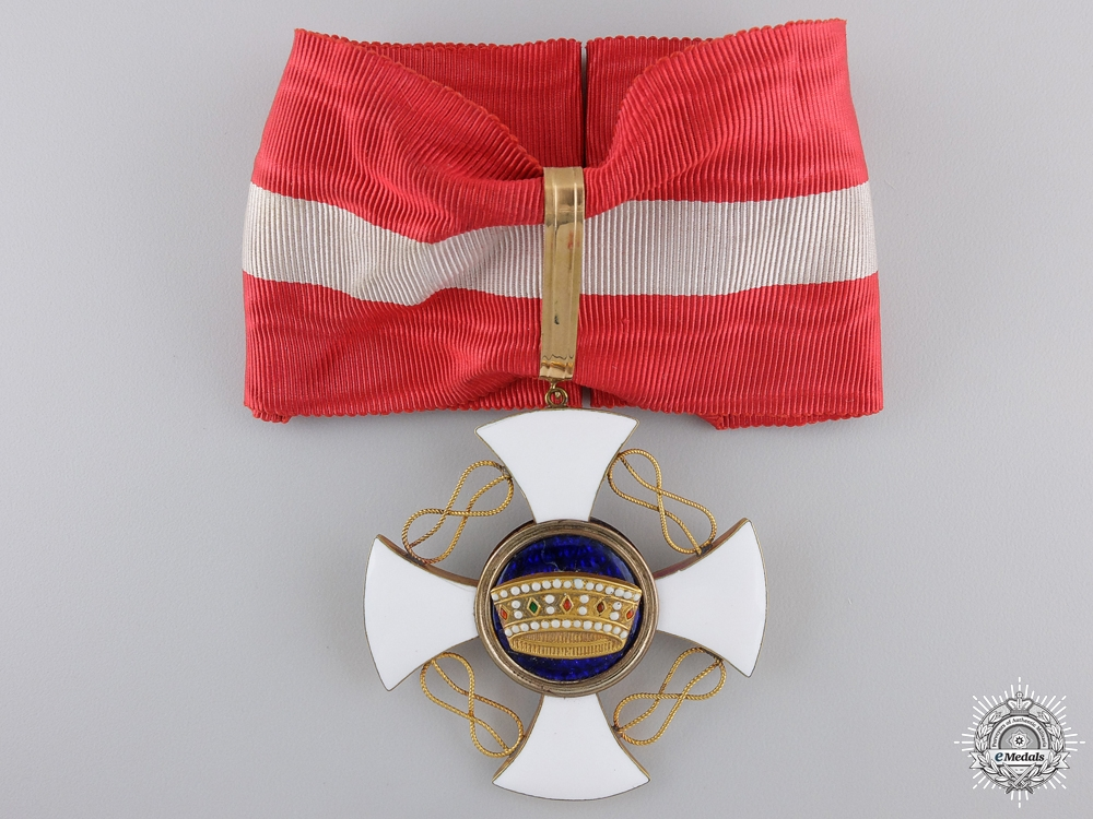 An Italian Order of the Crown; Grand Officer by D.Cravanzola