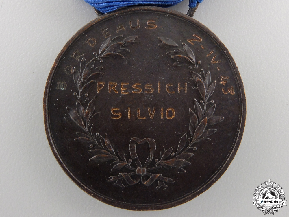 An Italian Al Valore Militaire Medal; Type II
