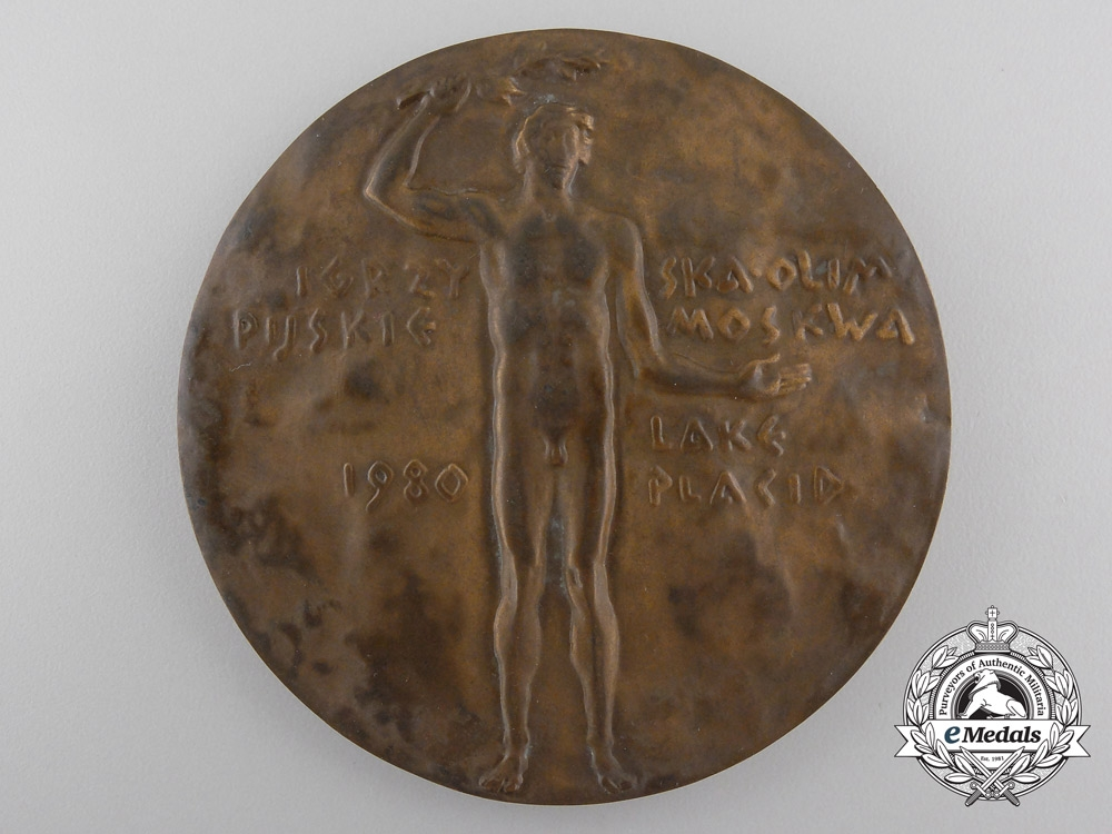 A 1980 Polish Olympic Committee Participant's Medal