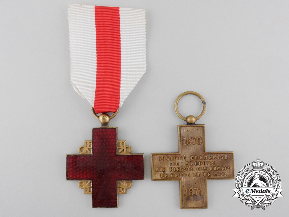Two French Red Cross Medals