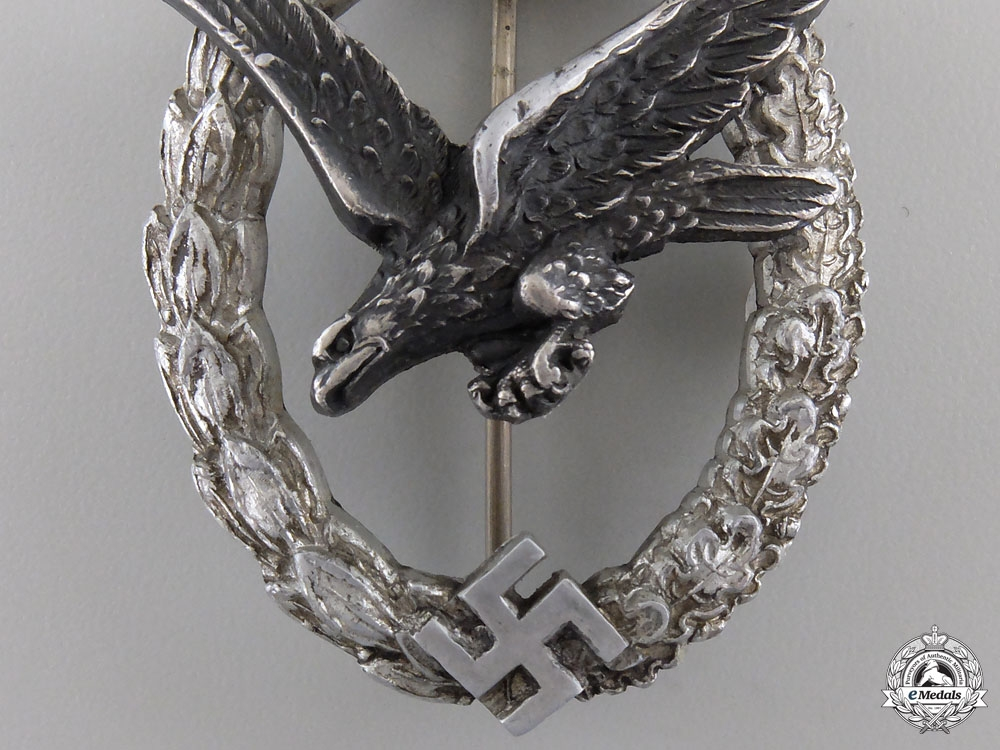 A Luftwaffe Air Gunner Badge by C.E.Juncker, Berlin