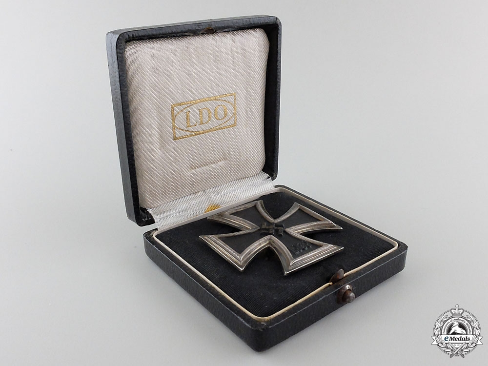 A Cased Iron Cross First Class by C. F. Zimmermann