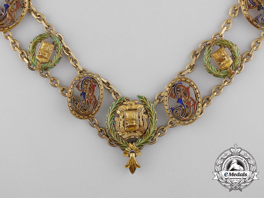The Venezuelan Order of the Bust of Bolivar; Collar