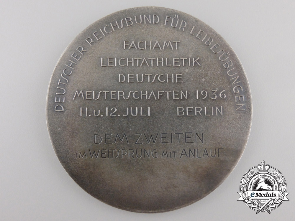 A 1936 German National Award for Physical Education