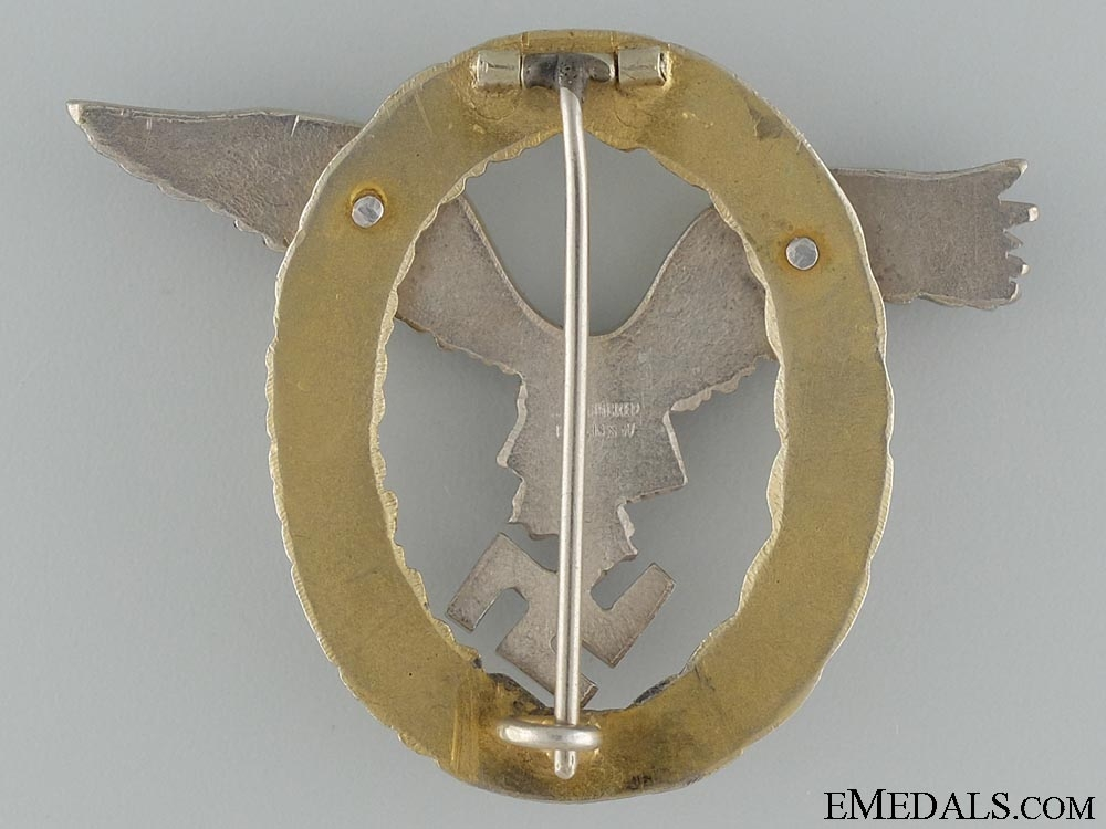 An Early Combined Pilot Observer Badge by C.E. Juncker Berlin  Consignement 3