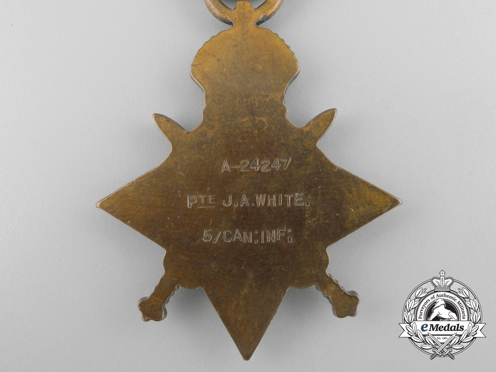 A First War Medal Group to the 1st Canadian Mounted Rifles