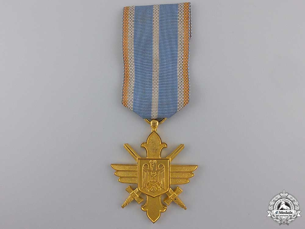 A Romanian Air Force Bravery Decoration; First Class