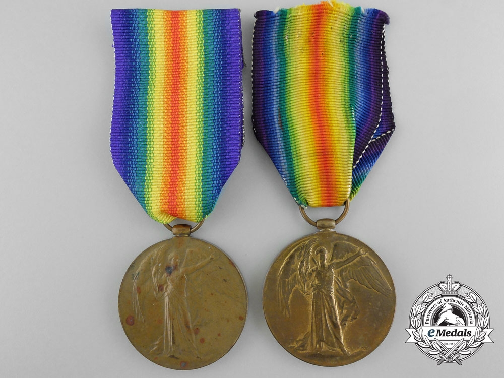 Two First War British Victory Medals