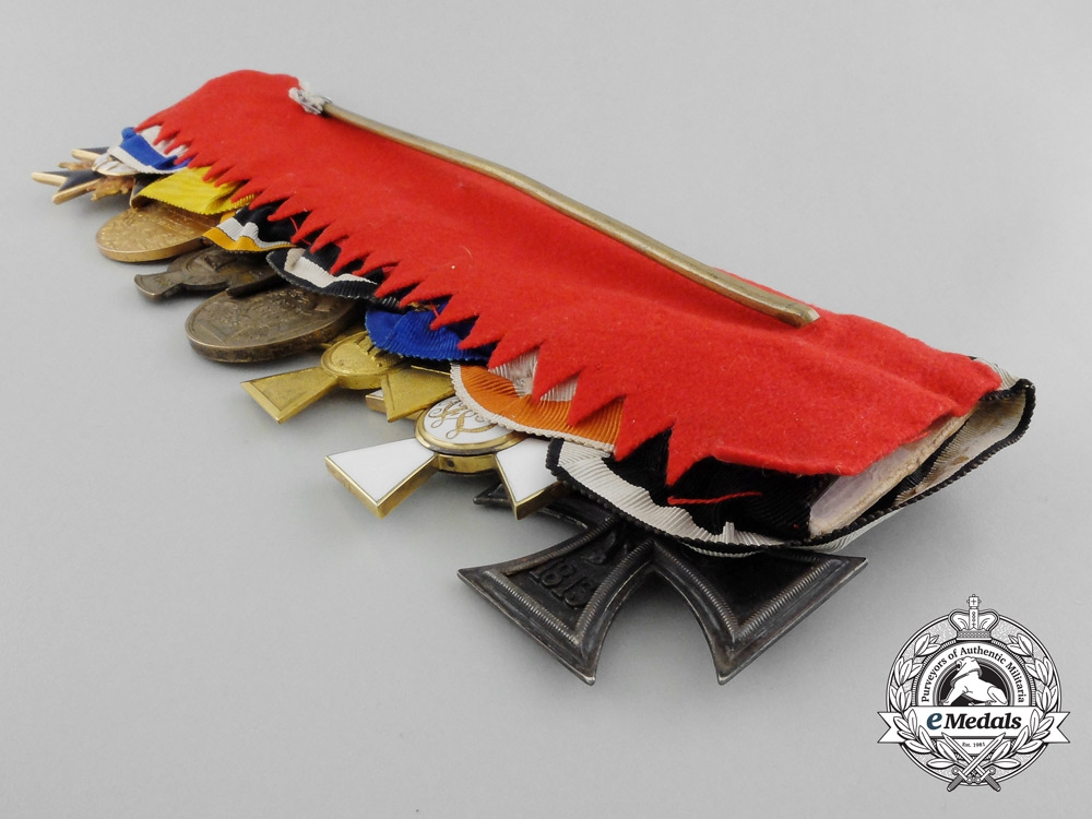A Franco-Prussian War 1870-71 Officer's Medal bar of Seven, with Two Gold Orders