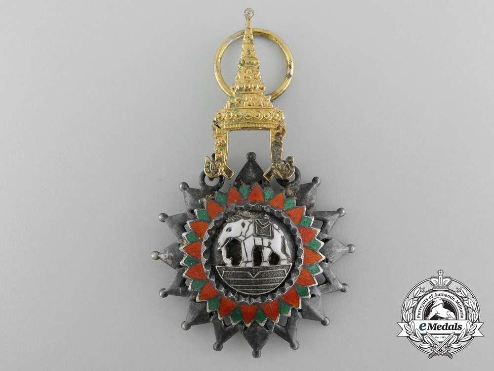 Thailand, Kingdom. A Most Exalted Order of the White Elephant, Knight