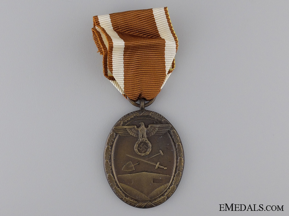 A West Wall Campaign Medal with Packet of Issue