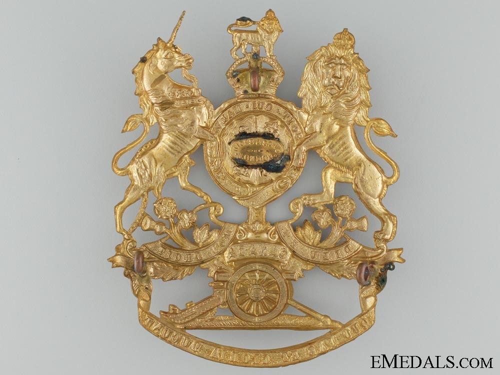 A Royal Canadian Artillery Officer's Helmet Plate c.1905