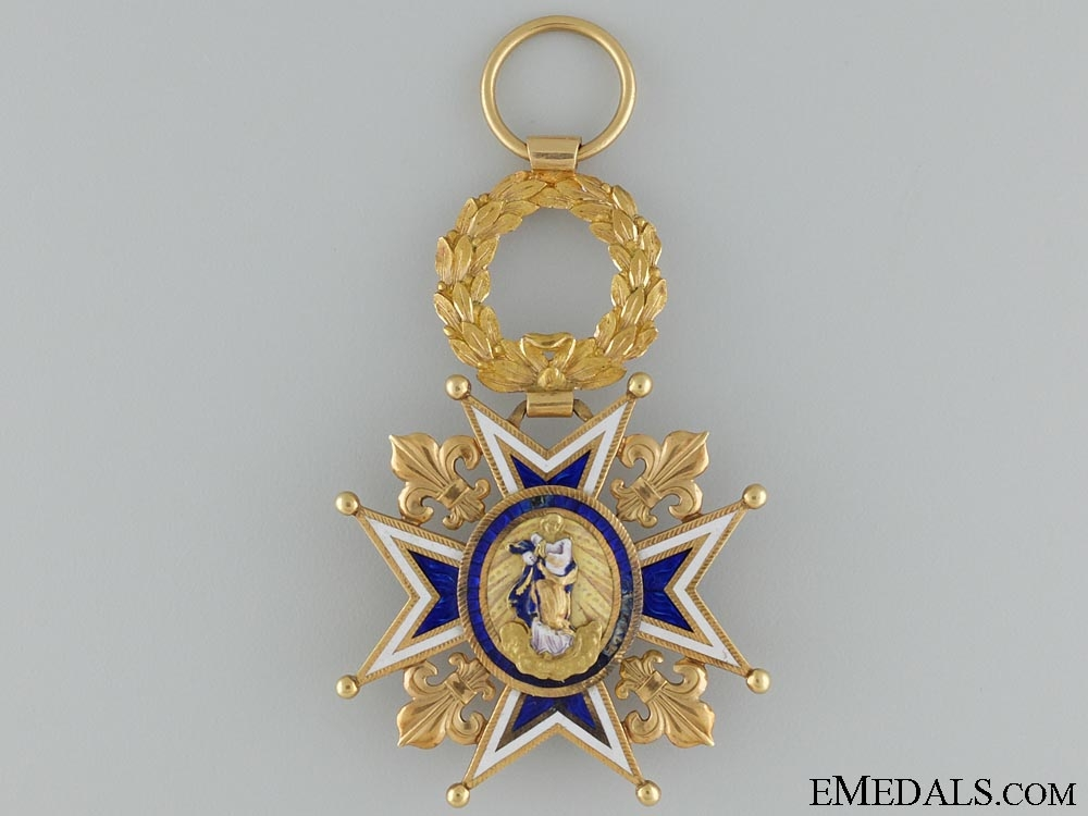 The Royal Order of Charles III in Gold 1847-1868; Grand Cross