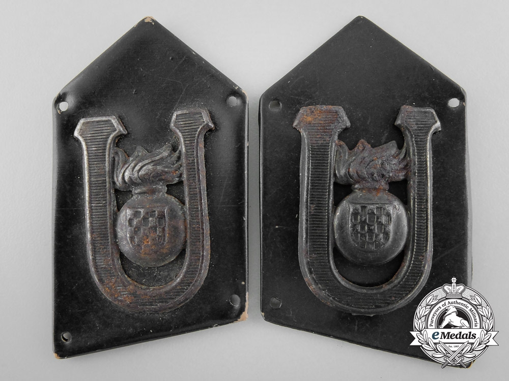 Croatian Armored Unit Collar Tabs