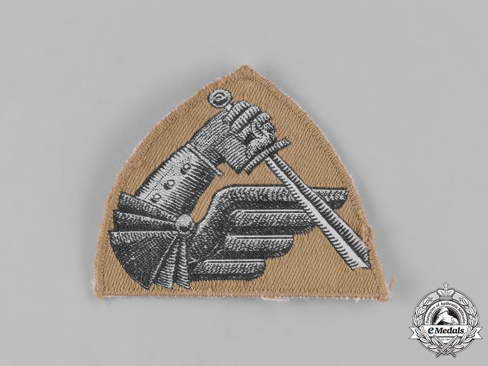 Poland, Republic. Second War 2nd Warsaw Armoured Division Sleeve Badge, c.1945