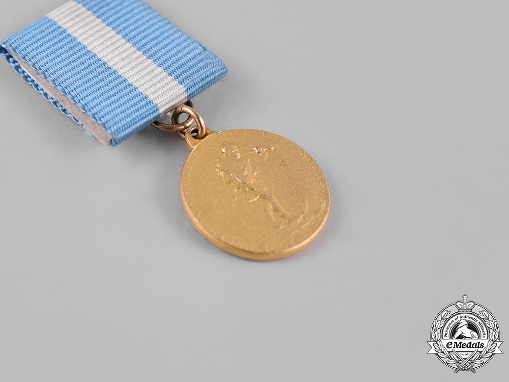Sweden, Kingdom. An Association for the Promotion of Skiing Medal, I Class Miniature, Gold Grade