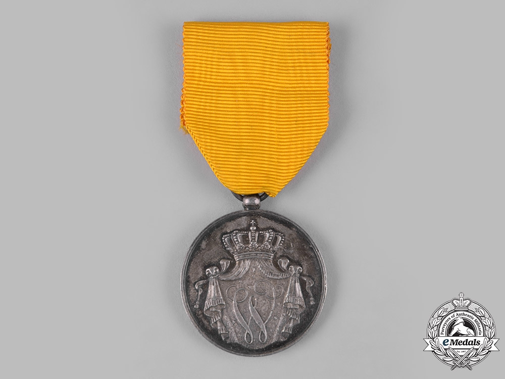 Netherlands, Kingdom. An Army Long Service Medal, II Class Silver Grade for Twelve Years' Service (Six in the Colonies)