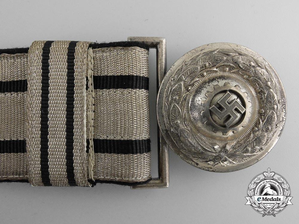 Germany, DAF. A Labour Front Stosstrupp of the Werkschar Leader's Brocade Belt with Buckle, Published