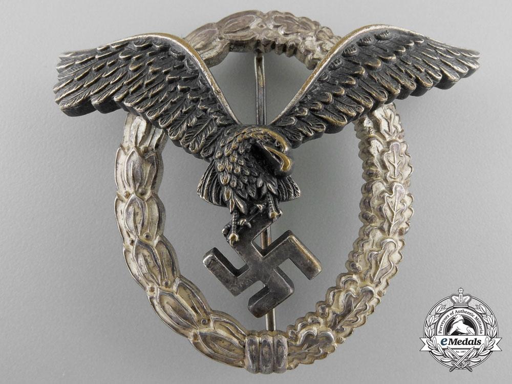 A Luftwaffe Pilot's Badge by Berg & Nolte, Lüdenscheid