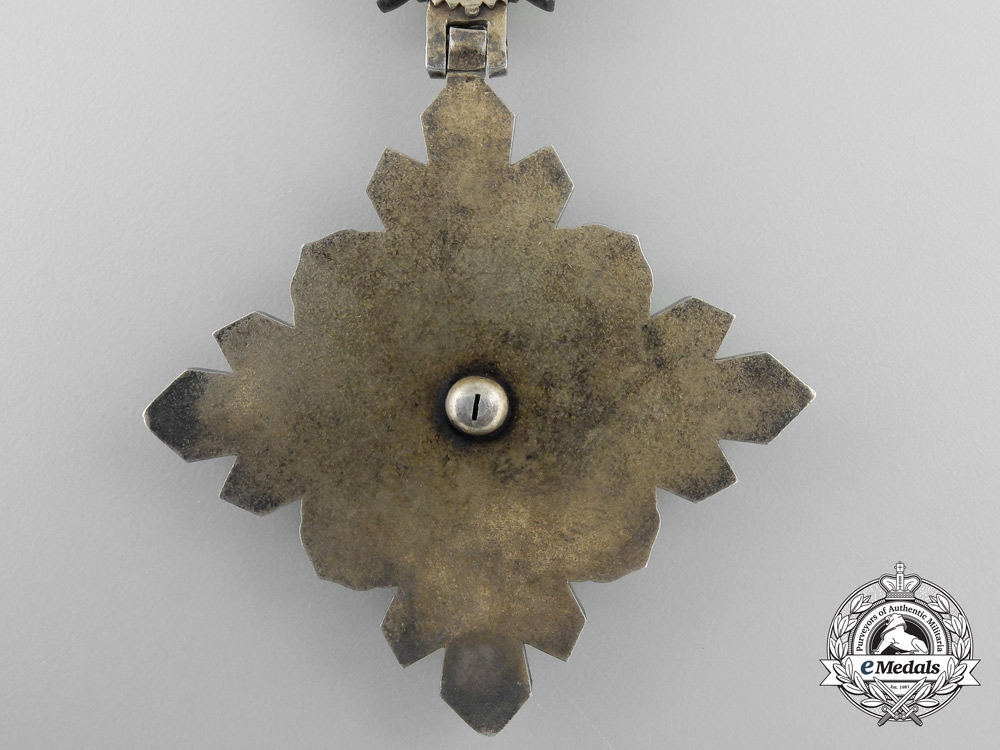 Manchukuo. Japanese Occupation. An Order of the Auspicious Clouds, 3rd Class Badge
