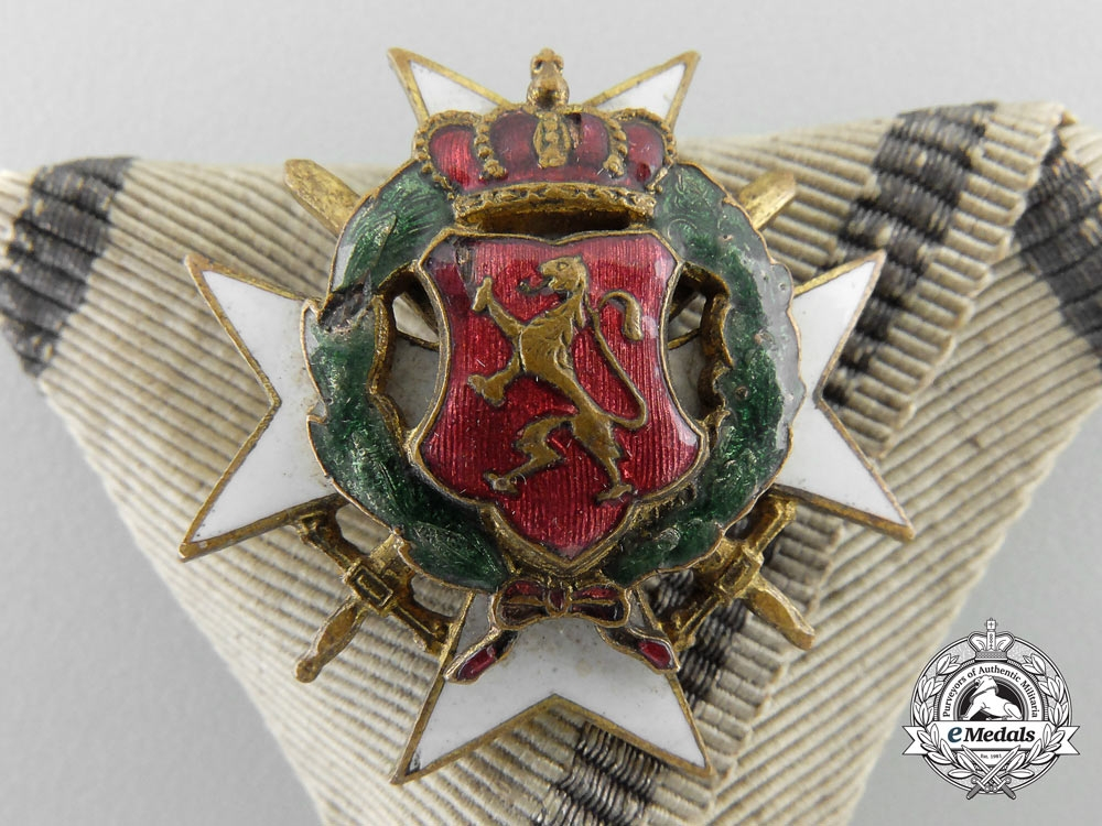 A Bulgarian Military Order of Bravery; Third Class Breast Badge