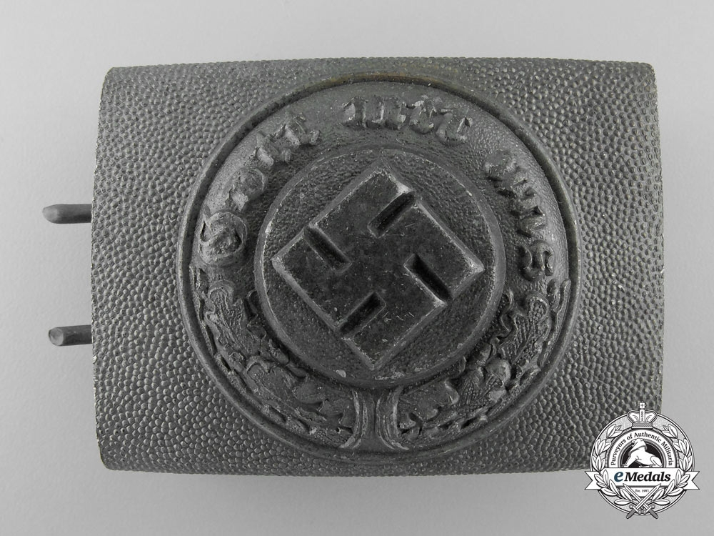 A German Police Enlisted Man's Belt Buckle by Overhoff & Cie, Ludenscheid