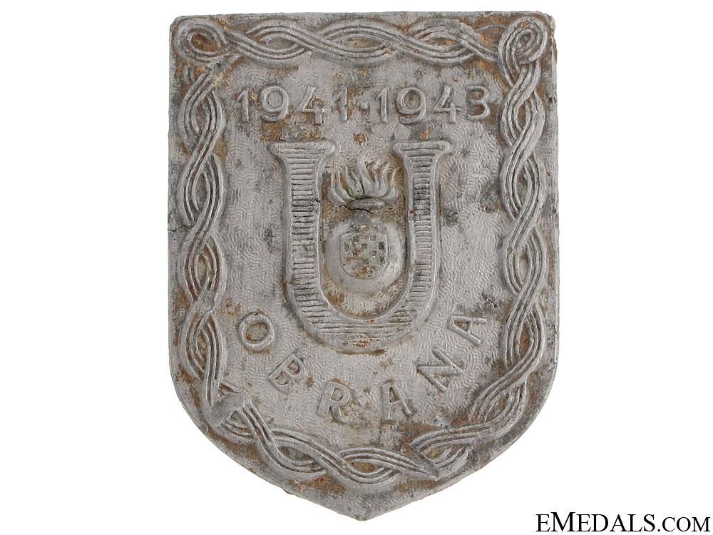 Scarce Ustasha Defense Badge