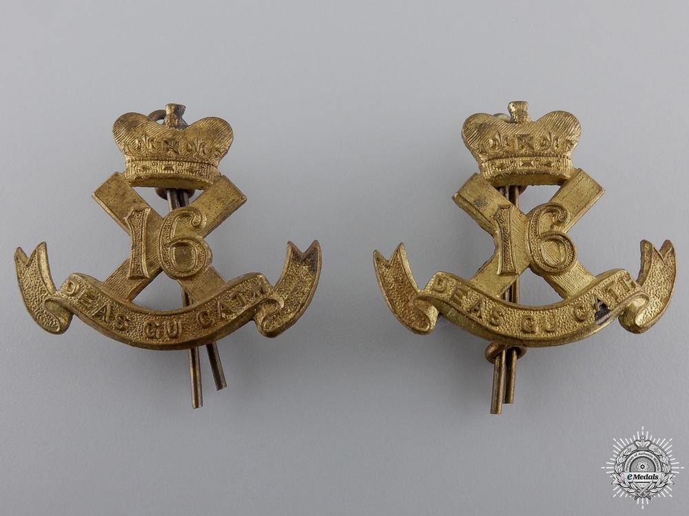 Second War Canadian Scottish Regiment Collar BadgePair