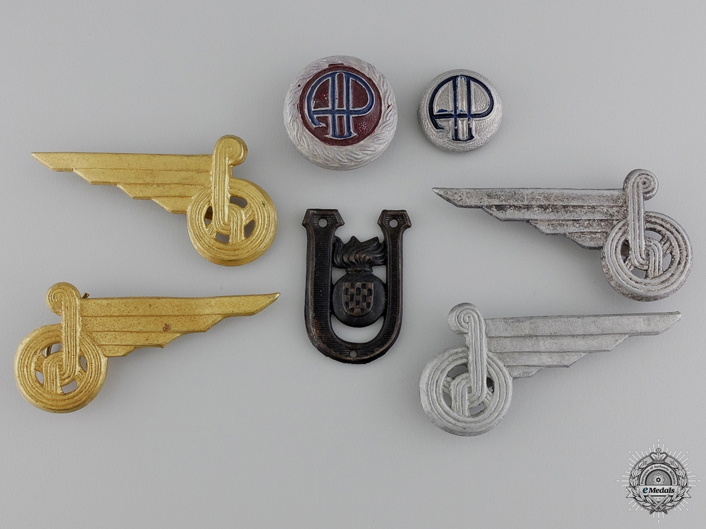 Second War Croatian Insignia & Badges