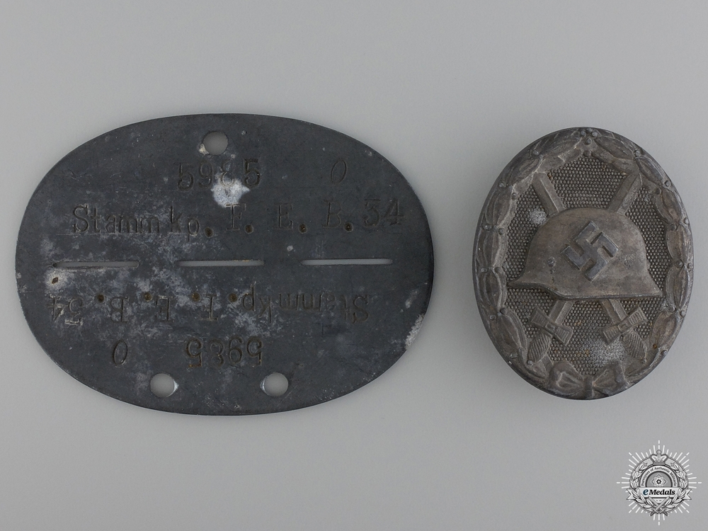 Second War German Wound Badge & Identification