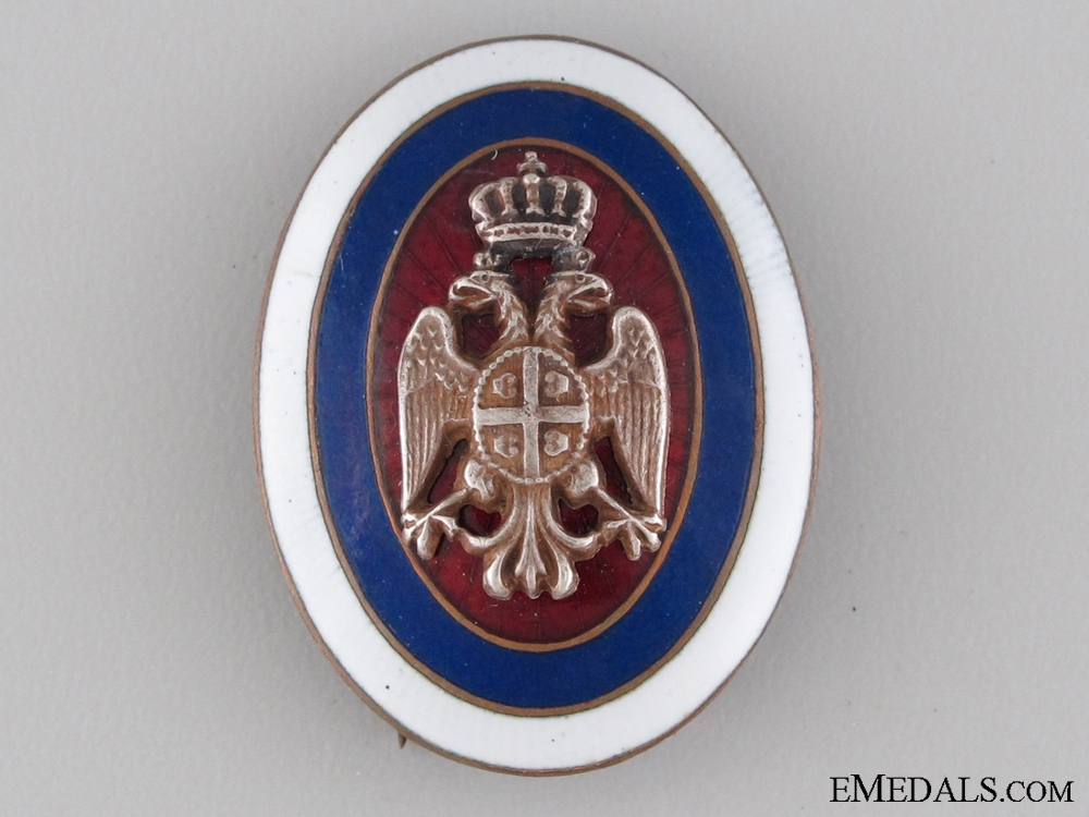 Serbian Officer's Cap Badge c.1880